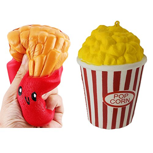 Slow Rising Squishies Jumbo, Soft Popcorn French Fries Squee