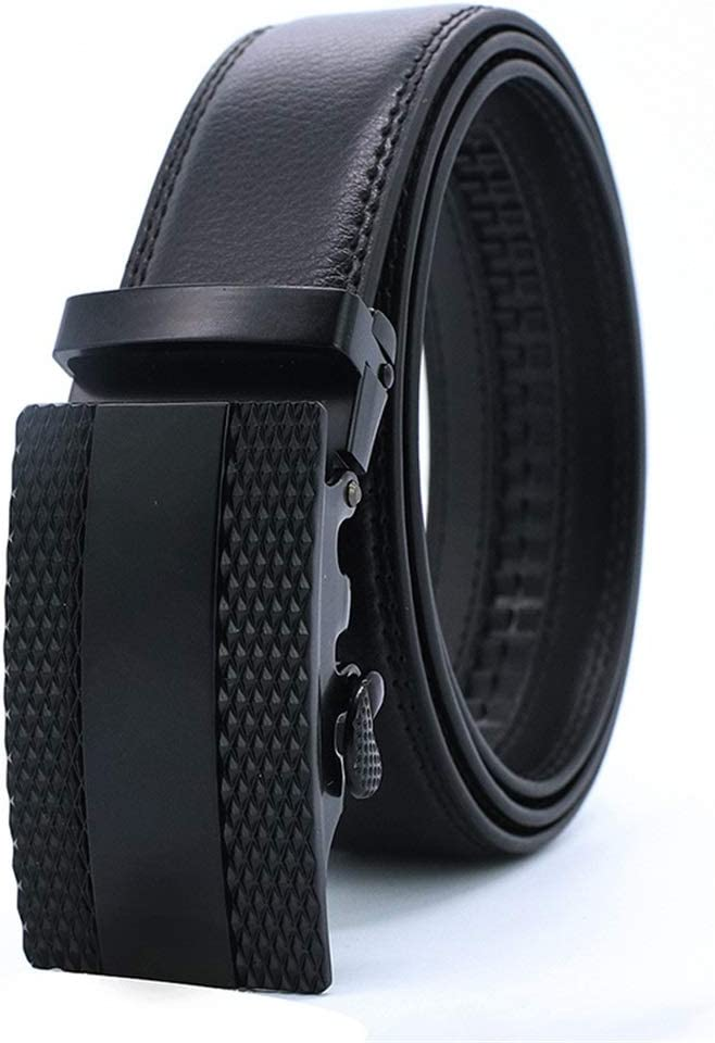 Size : M Crystalzhong-MW Mens Leather Strap Waistband Genuine Leather Automatic Buckle Belt Mens Leather Belt Leisure Business Ox Belt Formal Belt