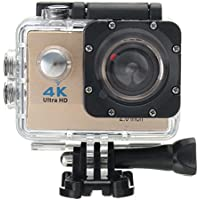 ESCENERY Waterproof 4K SJ9000 Wifi HD 1080P Ultra Sports Action Camera DVR Cam Camcorder ,170°A+ HD Wide-Angle Lens (Gold)