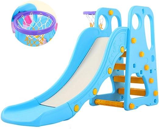 Diapositiva Toboganes Domésticos para Niños Interiores Y Exteriores Engrosamiento Extendido Juguetes De Plástico Juegos Infantiles Juguetes De Jardín (Color : Blue, Size : 170 * 45 * 106cm): Amazon.es: Hogar