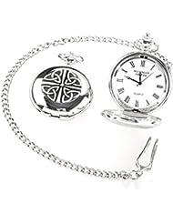 Irish Crafted Vintage Style Trinity Pocket Watch by Mullingar Pewter