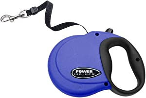 Coastal - Power Walker Dog Retractable Leash, Blue, Up to 110 lbs - Large