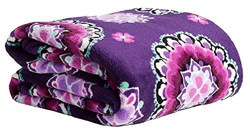 Vera Bradley XL Throw Blanket, Fleece - Lilac Medallion