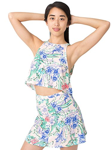 fd26345091f American Apparel The Floral Print Lulu Crop Top - Floral on Pink / M - Buy  Online in UAE.   Apparel Products in the UAE - See Prices, Reviews and Free  ...