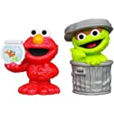 Sesame Street Figures Oscar and Elmo, 2-pack