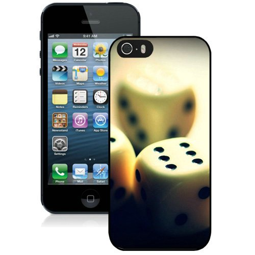 Coque,Fashion Coque iphone 5S Dice Closeup Detail Noir Screen Cover Case Cover Fashion and Hot Sale Design