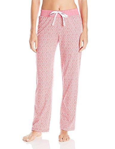 Nautica Women's Anchors Away Brushed Cotton Jersey Pant, Anchors Away Light Ibis, XX-Large (Jersey Pant Brushed)