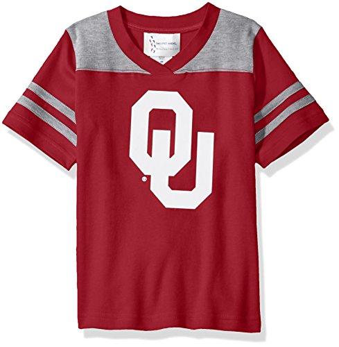 Two Feet Ahead NCAA Oklahoma Sooners Toddler Boys Football Shirt, Crimson, 3