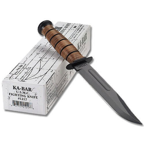 KA-BAR 1217 Straight Edge Full Size USMC Fighting Knife