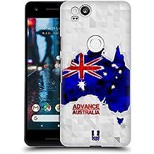 Head Case Designs Australia Geometric Maps Hard Back Case for Google Pixel 2