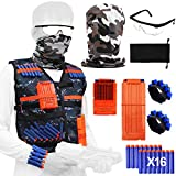 Tactical Vest Jacket Kit for Nerf Toy Gun N-Strike Elite Series with Camouflage