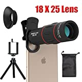Cell Phone Camera telephoto Lens, Zwish 18X Zoom Telephoto Universal Clip On Lens Kit for iPhone 8/7/6S/6 Plus/5/4,Samsung, Android and Other Phones