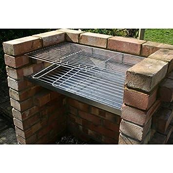 DIY de acero inoxidable barbacoa de ladrillos kit Heavy Duty 7 mm rejilla para el carbón
