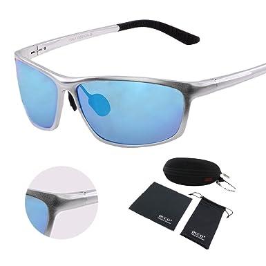 Sports polarisées Lunettes de soleil protection UV400Vision de nuit, bleu