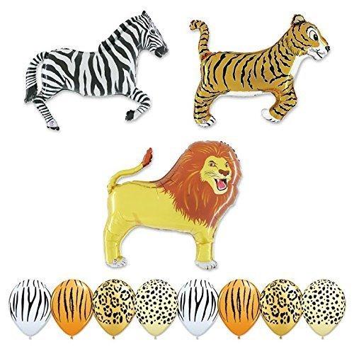 Giant 11 pc Safari Balloon Animal Birthday Party kit ()