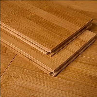 "AMERIQUE GLHCM9609615 Pre-Finished Solid Bamboo Floor Horizontal Carbonized, 23.81Sqft/3-3/4 x 5/8"" x 37-3/4"", Carbonized Medium Shade, Square Feet"