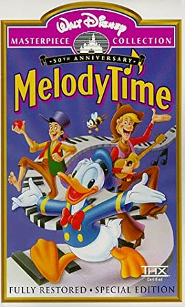 Amazon Com Melody Time Fully Restored 50th Anniversary Special Edition Walt Disney Masterpiece Collection Vhs Roy Rogers Trigger Dennis Day The Andrews Sisters Fred Waring And His Pennsylvanians Freddy Martin Ethel Smith Frances