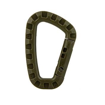 Mosquetón llavero D-Ring para acampada, paquete de 10, Army ...