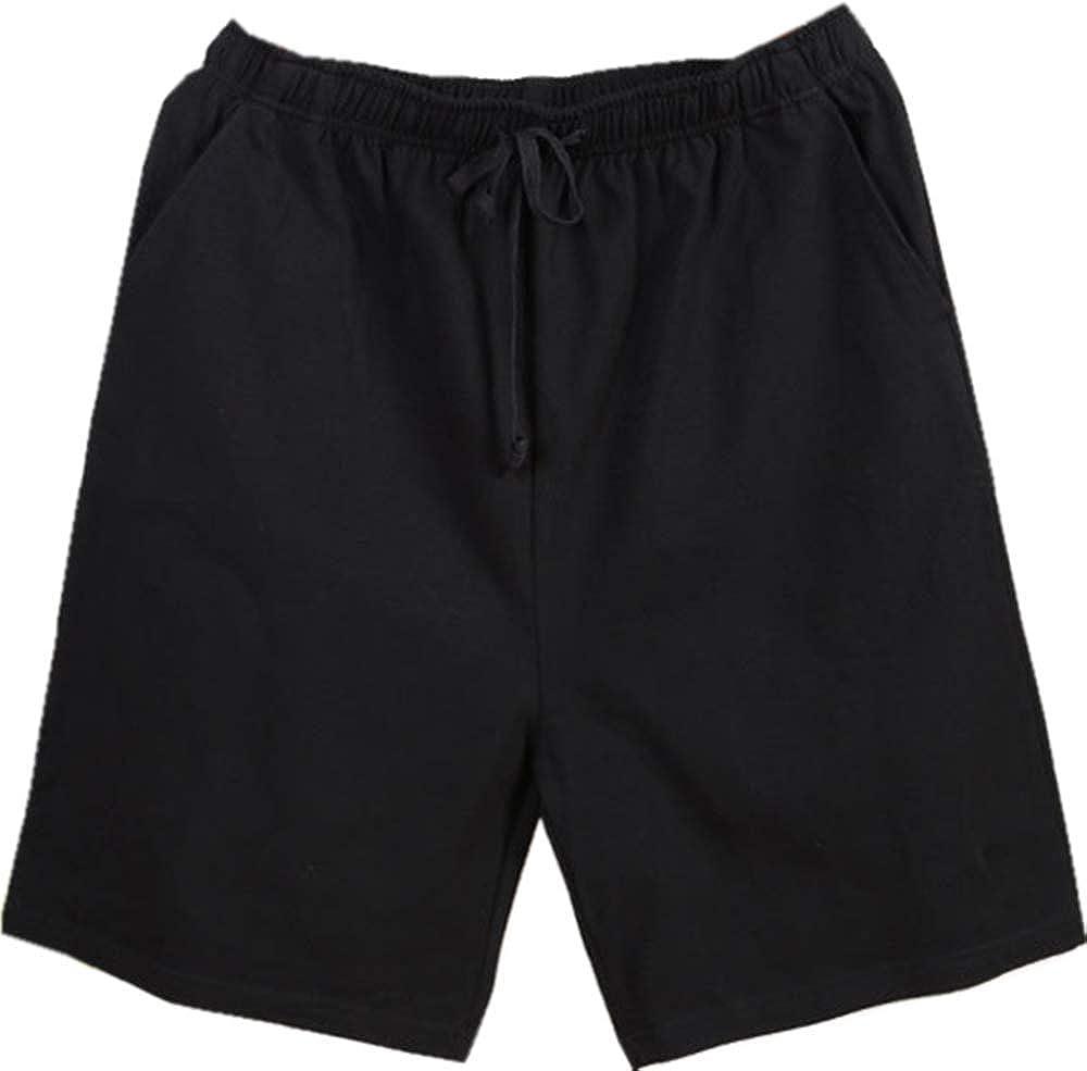 Nuosha-BABY Mens Sleep Shorts Cotton Pajama Shorts Casual Lounge Pants with Pockets