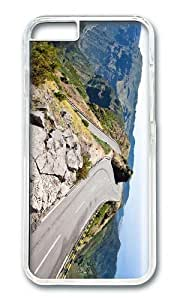 MOKSHOP Adorable Alpine Road In Summer Hard Case Protective Shell Cell Phone Cover For Apple Iphone 6 Plus (5.5 Inch) - PC Transparent