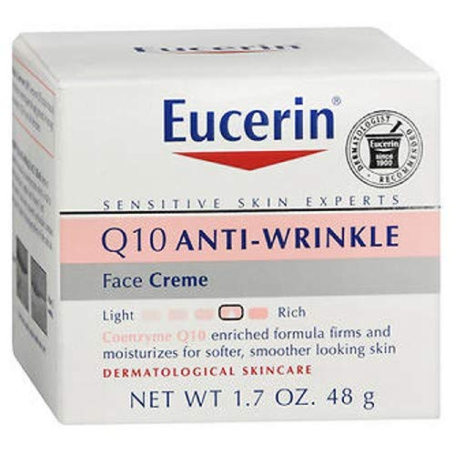 Eucerin Sensitive Skin Experts Q10 Anti-Wrinkle Face Creme 1.70 oz ( Pack of -