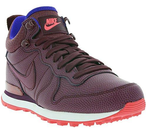 Nike Kvinna Inter Mitten Lthr Hi Sneakers 859549 Sneakers Skor Night Rödbrun 600