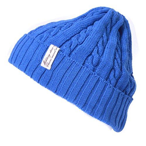 Casualbox Azul Beanie Luz Estructura Diseño Japonés Sombrero Gorros Tramo Hombres Acanalado TqRwxT1UF
