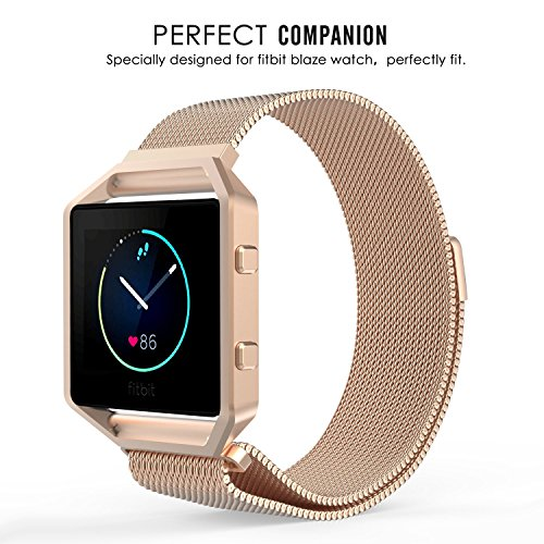 MoKo Stainless Steel Watch Band Strap for Fitbit Blaze Watches