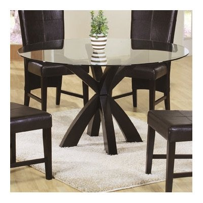 Delta 5 Piece Dining Set (Round Glass Top Dinette)