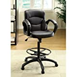 Devlin Drafting Style Leatherette Adjustable Office Chair