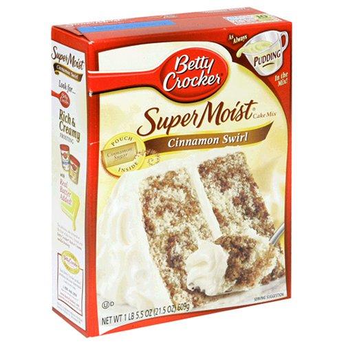 amazon com betty crocker supermoist cake mix cinnamon swirl 21 5