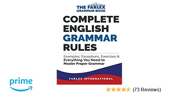 Complete English Grammar Rules Examples Exceptions Exercises And