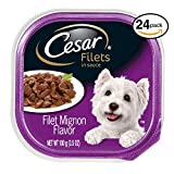 Cheap CESAR CANINE CUISINE Wet Dog Food Filet Mignon Flavor, (Pack of 24) 3.5 oz. Trays