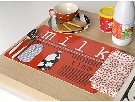 Milk time - Set de mesa, juego de 2: Amazon.es: Hogar
