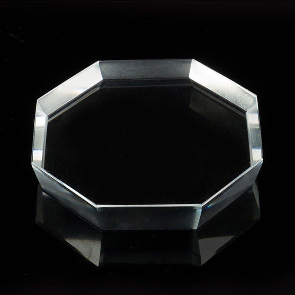Cristal Cristal adhesiva pegamento paleta cristal piedra mano impresión pestañas para falso pestañas extensión maquillaje cosmética herramienta Octagon