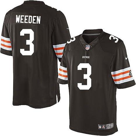 Amazon.com : Cleveland Browns Brandon Weeden Limited Brown Jersey ...