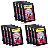 CreativePF [12pk5.5x8.5bk] Black Theatre Playbill Frame - Displays 8.5 by 5.5 inch Media Collection, Easel Stand and Wall Hanger Included (12- Pack)