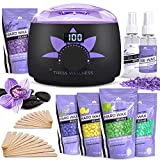 Waxing Kit Wax Warmer -EASY TO USE 2019 Model Digital Display 47 Items Hair Removal Wax