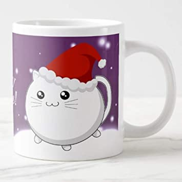 HUYHUY Nuevo Kawaii Taza De Navidad Gato Lindo Gatito Gatito Gatos ...