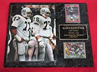 Lyle Alzado Howie Long Los Angeles Raiders 2 Card Collector Plaque #2 w/8x10 Action Photo