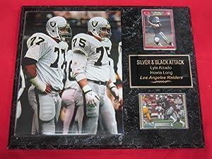 Lyle Alzado Howie Long Los Angeles Raiders 2 Card Collector Plaque #2 w/8x10 Action Photo