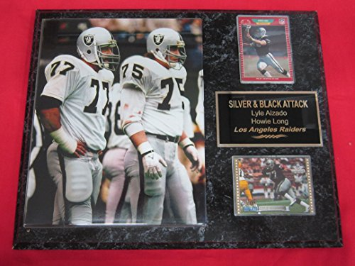 Lyle Alzado Howie Long Los Angeles Raiders 2 Card Collector Plaque  2 W 8X10 Action Photo