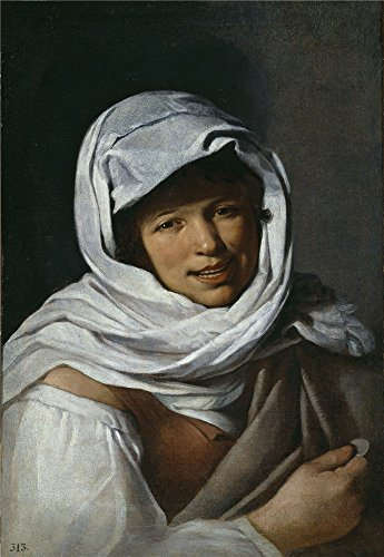 [Oil Painting 'Murillo Bartolome Esteban (Disciple Of) La Gallega De La Moneda Mediados Del 17 Century ' Printing On Perfect Effect Canvas , 30 X 43 Inch / 76 X 110 Cm ,the Best Nursery Decor And Home Decor And Gifts Is This Cheap But High Quality Art Decorative Art Decorative Canvas] (Cheap Disciple Costumes)