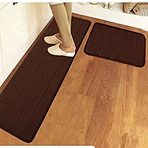 Amazon Com Ustide 2 Piece Bathroom Rugs Set Solid Color