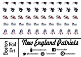 A England Nail Polish New England Patriots - Waterslide Nail Decals - 50pc