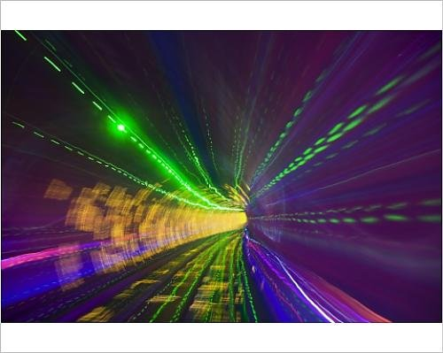 Photographic Print of West Bund Sightseeing Tunnel, Huangpu District, Shanghai, China, Asia