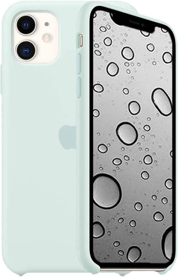 ILJILU Silicone Case Compatible for iPhone 11 6.1-Inch, Soft Liquid Silicone Gel Rubber Full Body Protection Simple Style Shockproof Cover Case | Seafoam