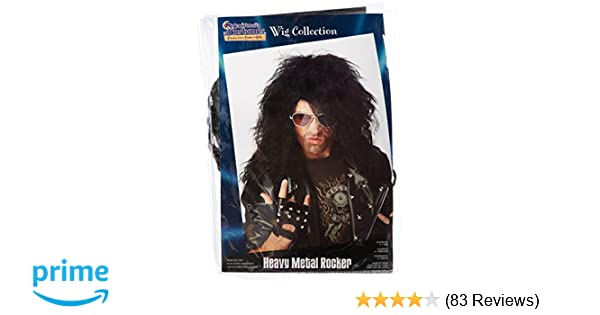 Amazon.com: California Costumes Mens Heavy Metal Rocker Wig,Black,One Size: Clothing
