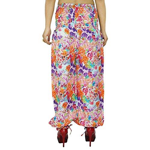 Pantalones Moda Harem mujeres gitanas Boho Pantalones sueltos Sweatpants pijamas indias Multicolore