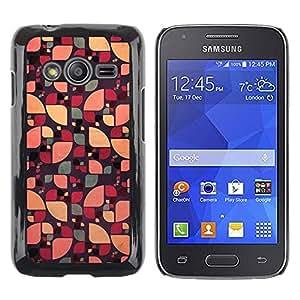 TopCaseStore / la caja del caucho duro de la cubierta de protección de la piel - Floral Abstract Green Color - Samsung Galaxy Ace 4 G313 SM-G313F